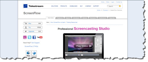 Screencasting Software Sites