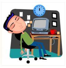 Man Asleep at Computer