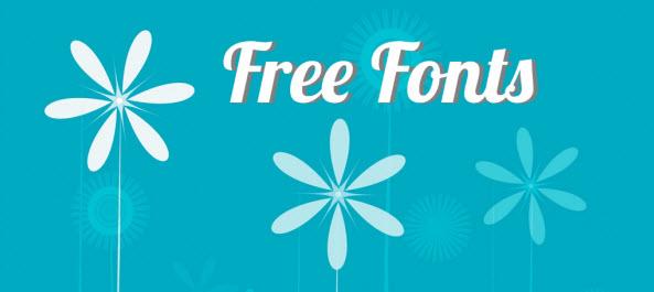 Free Fonts Header