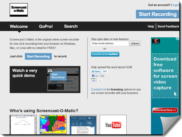 ScreencastOMatic Site