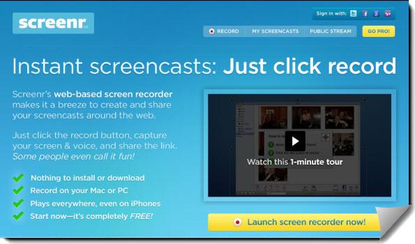 Screenr Site