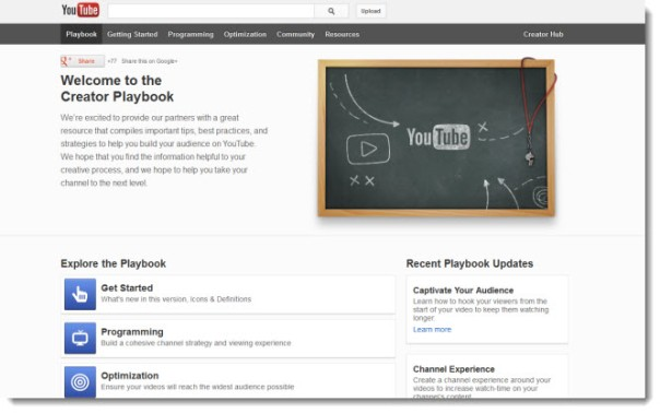 Youtube-playbook-main-page